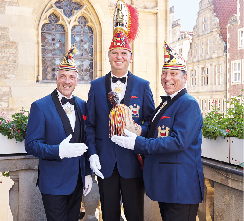 Die Prinzengarde der Stadt Münster läutet neue Session mit dem designierten Prinz Ingo I. ein