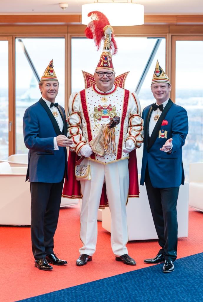 Die Prinzengarde der Stadt Münster läutet neue Session mit Prinz Bernard I. ein