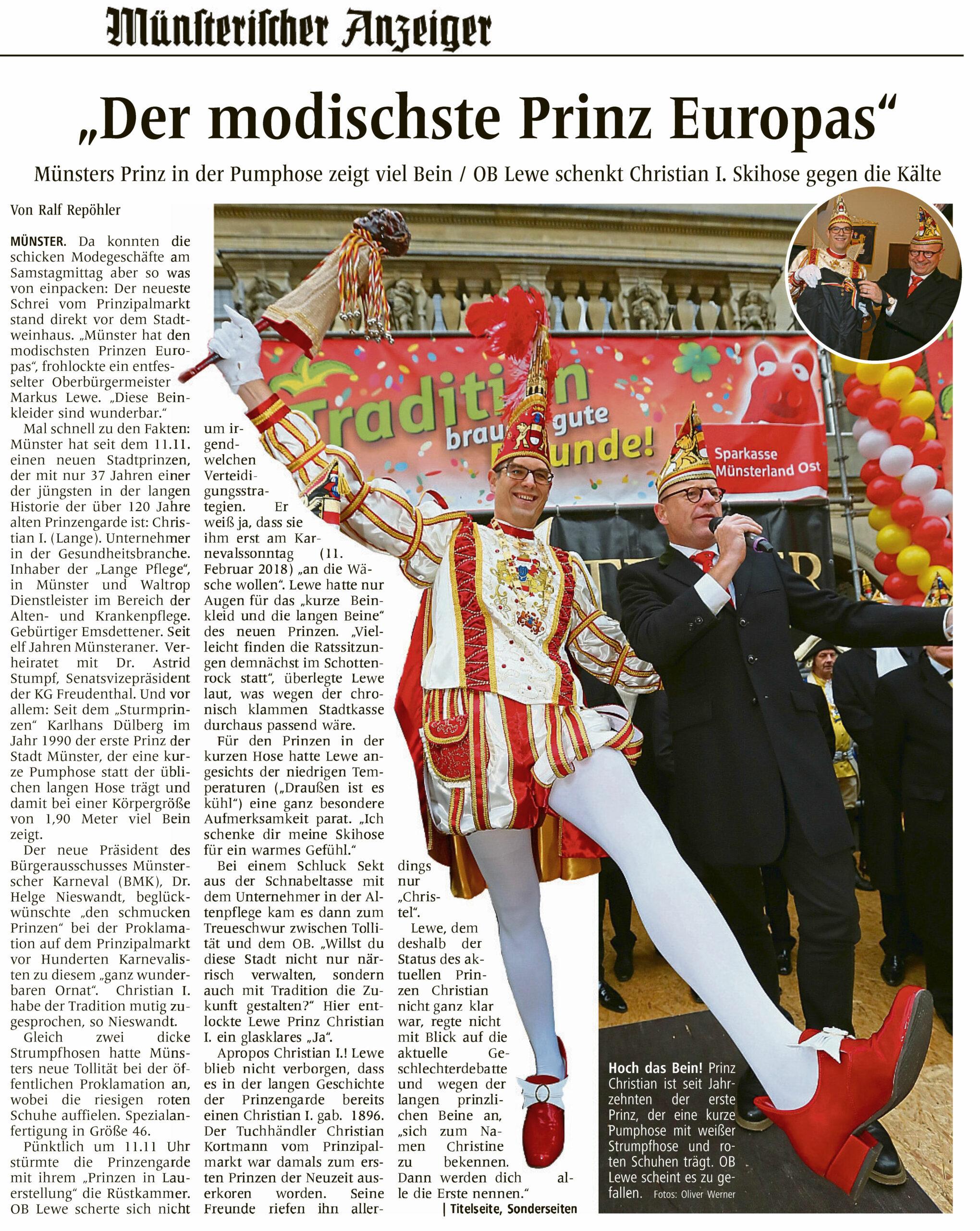 Der modischste Prinz Europas
