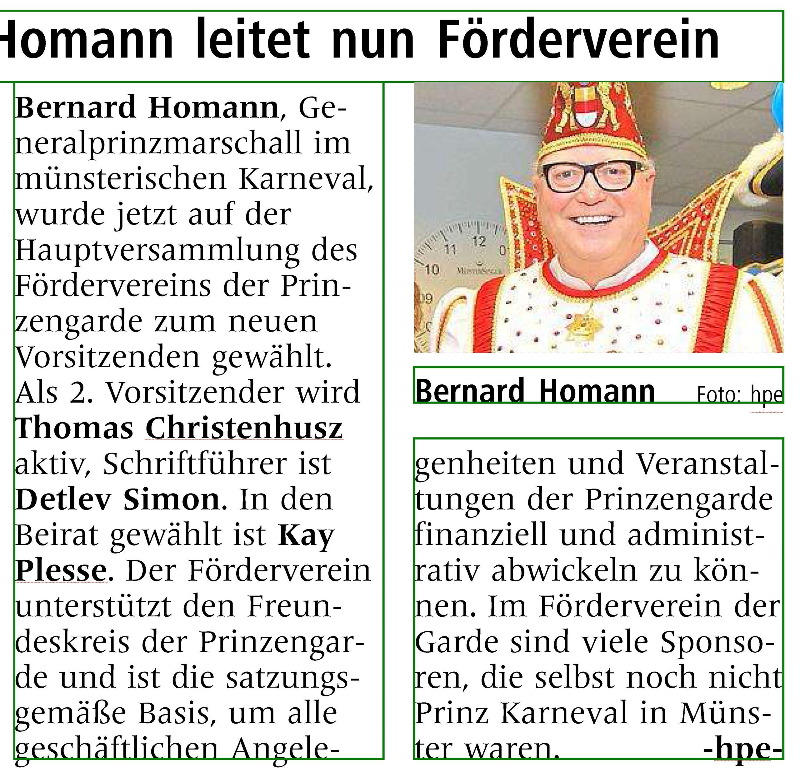 Homann leitet nun den Förderverein