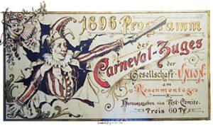 Programm Karnevalszug 1896